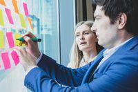 Business people brainstorming ideas