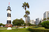 Lima Peru Lighthouse Faro La Marina Miraflores copyspace copy space landmark