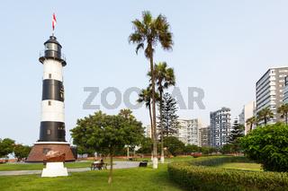 Lima Peru Lighthouse Faro La Marina Miraflores copyspace copy space landmark
