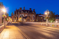 York cityscape England Sunset