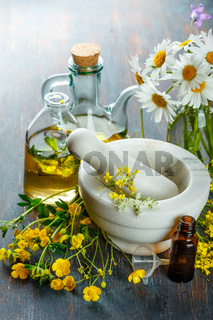 Essential oils and wild flowers