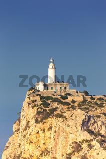Leuchtturm Cap Formentor Mallorca Textfreiraum Copyspace Hochformat Balearen Reise Reisen Spanien