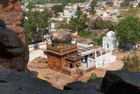 View of a mosque near the caves, Badami, Karanataka.