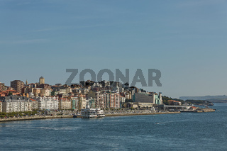 Coastal area and port of Santander in Spain