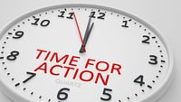time for action modern bright clock style