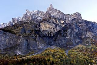 Gipfel Corne de Chamois, Cirque du Fer a Cheval, Sixt-Fer-a-Cheval, Haute-Savoie, Frankreich