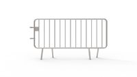 3d rendering of a crowd control fence isolated in white background