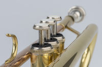 Musical instrument trumpet in detail
