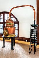 Teil einer alten Destillieranlage im Palais Bénédictine