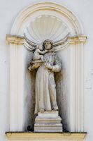 Statue in the wall niche