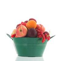 Green bucket fresh fruit