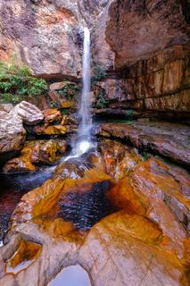 Cachoeira Da Primavera, Spring Waterfall, Chapada Diamantina National Park, Lencois, Bahia, Brazil, South America