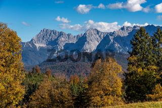 landscape near Garmisch Partenkirchen in Bavaria, Germany