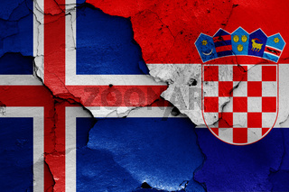 flags of Iceland and Croatia