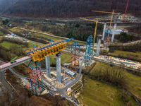 New railway bridge construction - Stuttgart 21, Aichelberg