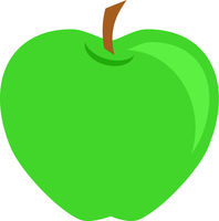 Green Apple Fruit Vector Isolated