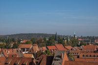 Overview of the german city Quedlinburg