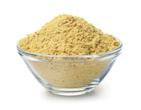 Glass bowl of mustard powder