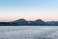 hangzhou west lake landscape in nightfall