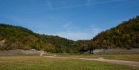 The dry lake Edersee in North Hesse