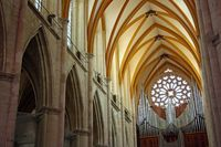 Kirchenschiff, Kathedrale Saint Etienne, Toul, Frankreich