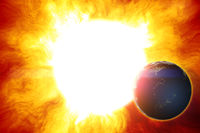 earth disaster sun heat space
