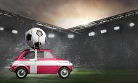 Denmark car on football stadium