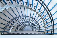 semicircle spiral staircase closeup
