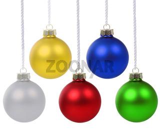 Weihnachten Weihnachtskugeln Farben Weihnachts Kugeln hängen Freisteller
