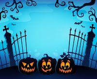 Cemetery gate silhouette topic 1