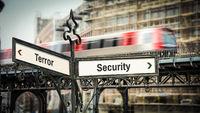 Street Sign Security versus Terror
