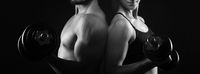 Perfect male and female upper bodies.