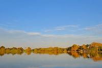 Rio Paraguay River between Corumba and Porto Jofre, Pantanal landscape, Mato Grosso do Sul, Brazil