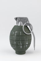 Hand grenade against a white background