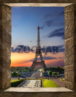 Paris from window