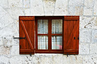 Window with open shutters