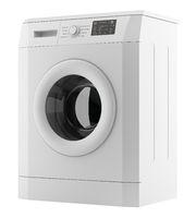 modern washing machine isolated on white background