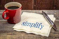 simplify - note on napkin