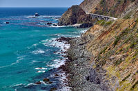 Big Creek Bridge on Highway 1, California