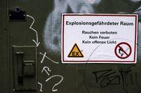 Chemietank explosionsgefährdet