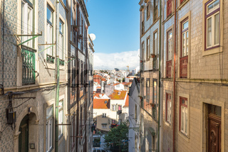 Above the roofs of Lisbon