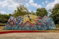 Park Omar, (Parque Omar) in the heart of Panama City, Republic of Panama.