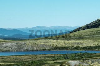 Blick auf das Massiv des Snøhetta im Dovrefjell