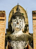 statue of buddha in ayutthaya thailand, digital photo picture as a background