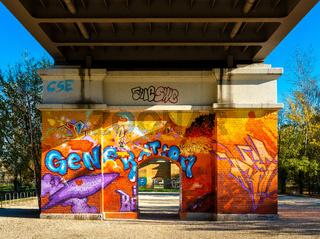 Graffitit am Brückenbogen