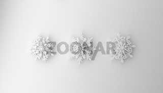 Modern Christmas background with snowflakes