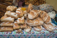 Fresh bread for sale on a festival