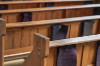 Pews in an old church