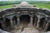 Anandeshwar temple aerial View, Lasur, Daryapur Taluka, Amravati District, Maharashtra, India