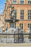 Fountain of Neptune , Long Street, Gdansk, Poland